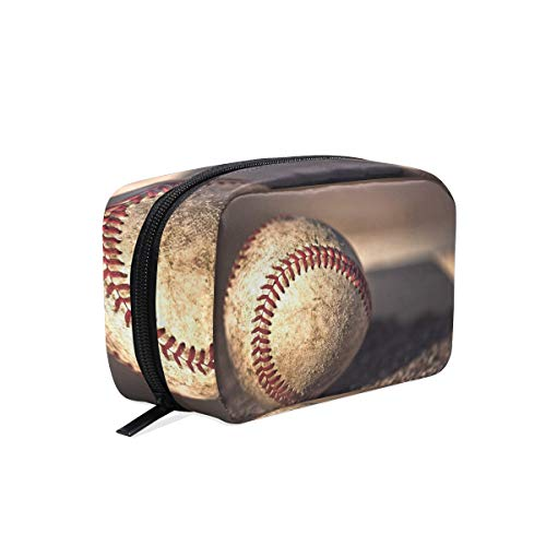 HU MOVR Makeup Organizer Baseball Super Womens Zip Toiletry Bag Large Case Cosmetic -