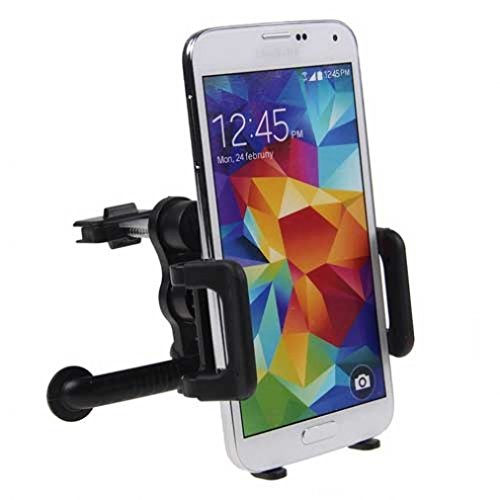 Price comparison product image Universal Car Mount AC Air Vent Cell Phone Vehicle Holder for Verizon LG G Vista - Verizon LG G2 - Verizon LG G3 - Verizon LG G4 - Verizon LG Google Nexus 5- LG Lancet, Vigor, Leon