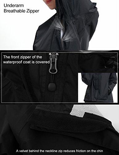 Women Hooded Rain Jacket - Diamond Candy Outdoor Lightweight Waterproof Coat by Diamond Candy (Image #2)