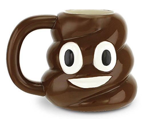 KOVOT Poop Mug - 18 Oz Ceramic Poop Emoji Mug