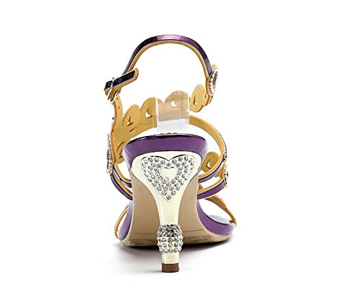 Soirée Moyens Zpl À uk Nuptiale Eur Sandales Mariée 4 Violet Soirée 36 Femme Diamant Robe Mariage Talons De Iw1x1EXqr