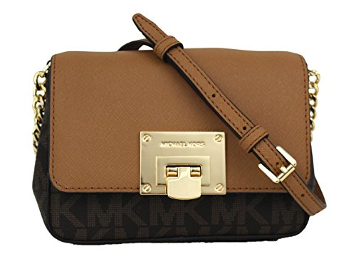 Michael Kors Tina Small Leather Clutch, Crossbody Shoulder Bag by Michael Kors
