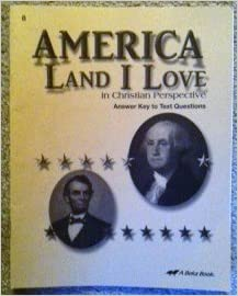 America Land I Love Answer Key to Text Questions