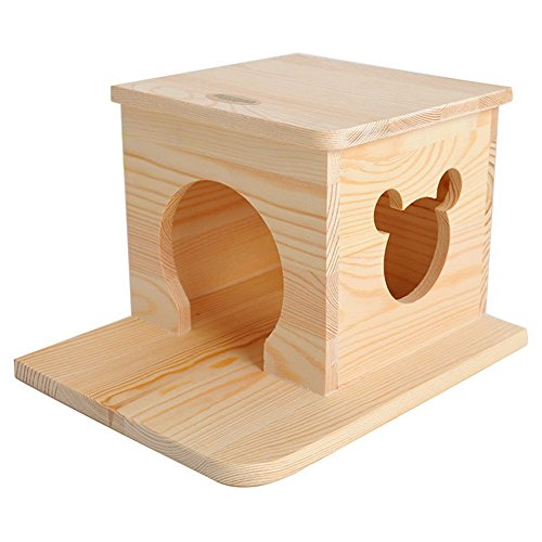 Flat Roof Wooden Hosue Small Animal Habitation For Chinchilla by Dimart