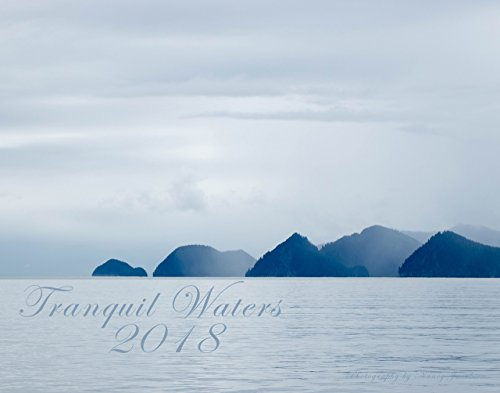 2018 Tranquil Waters Wall Calendar Large 11x14 Colorful Fine Art Nature Photography Gift for Beach Lover Landscape Seascape Sunset Ocean River Lake 14x23 Glossy IN STOCK - Reflections Stock