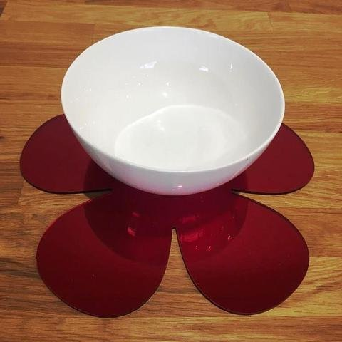 Placemat Set - Daisy - Red Mirror - Set of 8 by Super Cool Creations