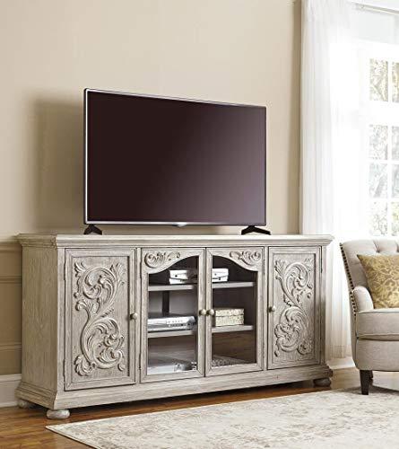 Ashley Furniture Signature Design - Marleny TV Stand Ornate - Cabinets - Gray
