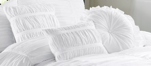 Amazoncom Chezmoi Collection 7Piece Chic Ruched Comforter Set