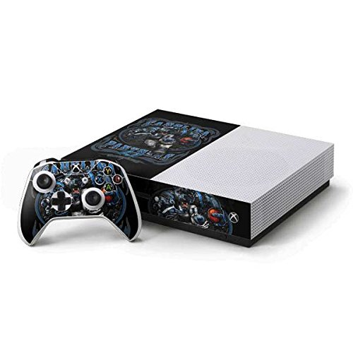 - Skinit NFL Carolina Panthers Xbox One S Console and Controller Bundle Skin - Carolina Panthers Running Back Design - Ultra Thin, Lightweight Vinyl Decal Protection