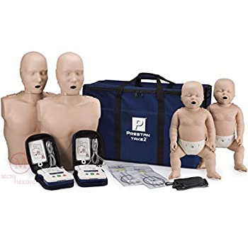 Image of Health and Household Prestan Take2 CPR Manikin & AED Trainer Kit with Feedback (2-Adult, 2-Infant, & 2-AED UltraTrainers)