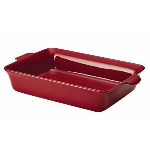 Anolon Vesta Stoneware 9-Inch x 13-Inch Rectangular Baker, Paprika Red