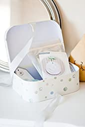 Great shower Gift for New Baby ,Keepsake Baby Kit Gift Handprint/ Footprint Impression, Beautifully packaged in a ribbon-tied reusable suitcase