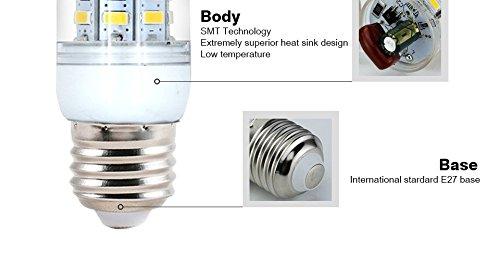 Amazon.com: 10pcs E27 LED Lamp 220V SMD 5730 Ampoule Bombillas lamparas Lampada de LED Corn Light Bulb Lighting: Home & Kitchen