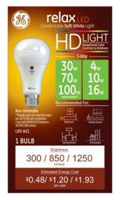 Amazon Com G E Lighting 46226 Relax Hd 3 Way Led Light Bulb