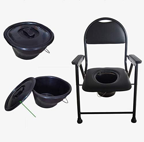 耐久性のある椅子高齢者背もたれトイレチェア妊婦の便器の椅子革のクッション便座トイレスツールベッドルームバスルーム病棟スツール