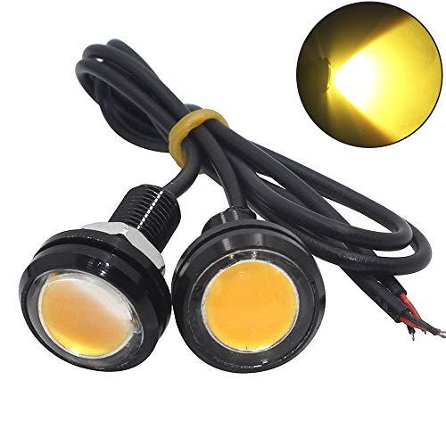 [해외]shunyang Car Replacement Eagle Eye 23mm LED 1.5W DRL Daytime Running Signal Bulbs Yellow 2Pcs / shunyang Car Replacement Eagle Eye 23mm LED 1.5W DRL Daytime Running Signal Bulbs Yellow 2Pcs