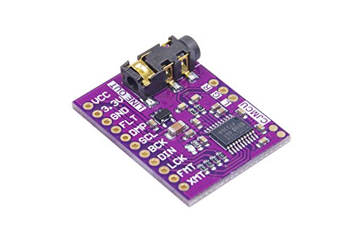 PCM5102A Digital-to-Analog Converter PLL Voice Module Stereo DAC Sound Card Board 3.5mm Stereo Jack 24 Bits Digital Audio Module for Raspberry Pi by KNACRO
