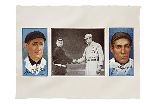 Lantern Press New York Giants - George Wiltse/John T. Meyers - Baseball Card 22668 (60x80 Poly Fleece Thick Plush Blanket)