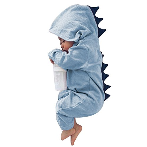 Cute One Year Old Boy Halloween Costumes (Butterfly Iron Toddler Baby Rompers Winter Autumn Hooded Newborn Infant Halloween Dinosaur Costume)
