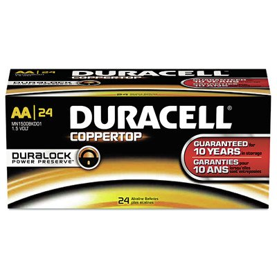 CopperTop Alkaline Battery, Size AA, 24-Pack (Set of 6) by Duracell