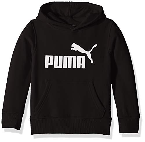 PUMA Boys' Little Fleece No.1 Logo Hoodie, Black, 6