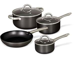 Gibson wessington 7 piezas bater a de cocina gris amazon for Amazon bateria cocina