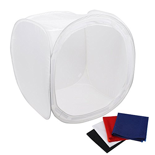 AW 36x36 inch/90x90 cm Photo Studio Shooting Tent Light Cube Diffusion Soft Box Kit 4 Colors Backdrops for Photography