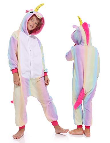 Kids Unisex Unicorn One Piece Sleepwear Cosplay Christmas Pajamas Costume Cute Homewear Xmas Sleepsuit for Boys Girls