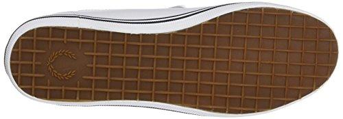 Fred Perry Unisex Adults' Kingston Leather Sneaker, White/White, 6 UK US Men White 1