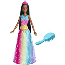 Barbie Dreamtopia Rainbow Cove Brush 'n Sparkle Princess, Brunette