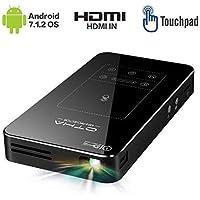 Portatile Proiettore OTHA Mini Proiettori Portatili Android 7.1 OS da HDMI WiFi Bluetooth Digital Palmare Smartphone Home Theater