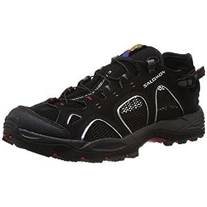 Salomon Men's Tech Amphib 3 Cross-country Shoe,Black/Autobahn/Flea,11 M US