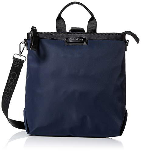 Zip Backpack - Calvin Klein Lane Nylon Boxy Top Zip Backpack, navy