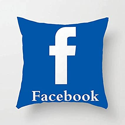 WSA Retail Cool Social Media Logo Pillows (Facebook Pillow)