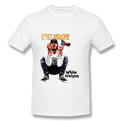 RZF Men's Post Malone White Iverson T-Shirt-XL White