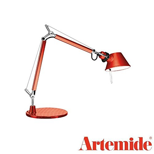Tolomeo Micro Led Table - Artemide TOLOMEO Micro Table Lamp Red LED BULB INCLUDED Design Italy 1987
