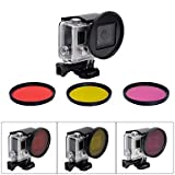 BL Professional 58mm Underwater Color-Correction Dive Filter Kit w/ Converter for GoPro Hero 4/3+ , purple