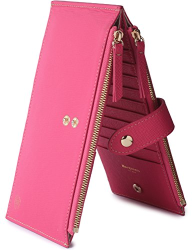 Borgasets Womens Walllet RFID Blocking Bifold Multi Card Case Wallet with Zipper Pocket Rose by Borgasets