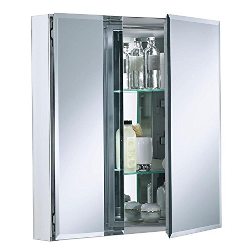 - KOHLER K-CB-CLC2526FS Frameless 25 inch x 26 inch Aluminum Bathroom Medicine Cabinet; ; Recess or Surface Mount