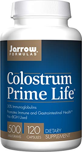 Jarrow Formulas Colostrum Prime Life, Promotes Immune and Gastrointestinal Health*, 500 mg, 120 Capsules
