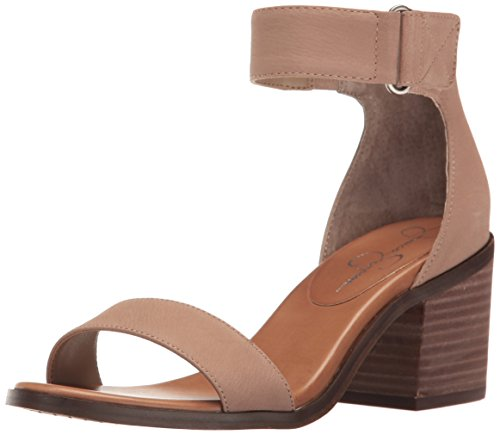 (Jessica Simpson Women's RYLINN Heeled Sandal Warm Taupe 7.5 Medium US)