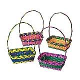 Multicolor Rectangular Easter Baskets 1 Dozen