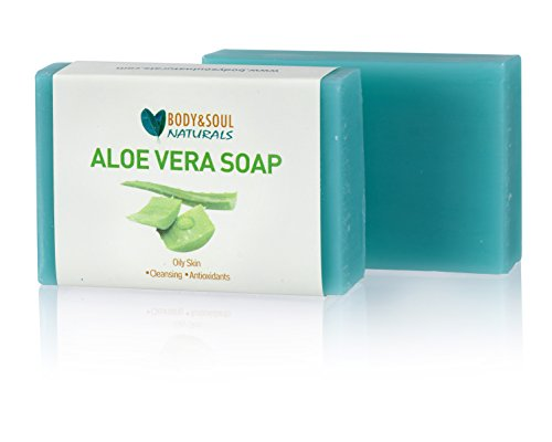 (Aloe Vera Natural Glycerin Soap Bar Made with Essential Oils, 3.5 oz. (Pack of 3))