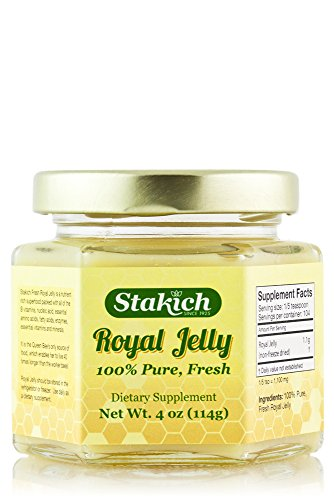 Stakich FRESH ROYAL JELLY 4-OZ - 100% Pure, All Natural, Top Quality - - Raw Royal Jelly