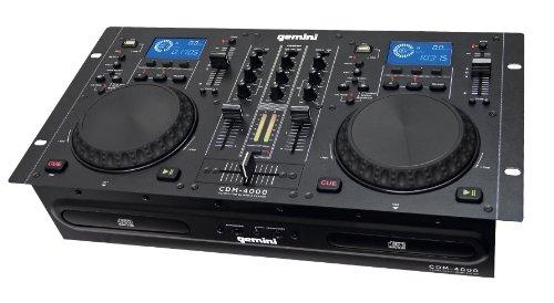 Gemini CDM4000 Dual CD/MP3/USB Mixer Combo Player - New - Dual Cd Dj Mixer