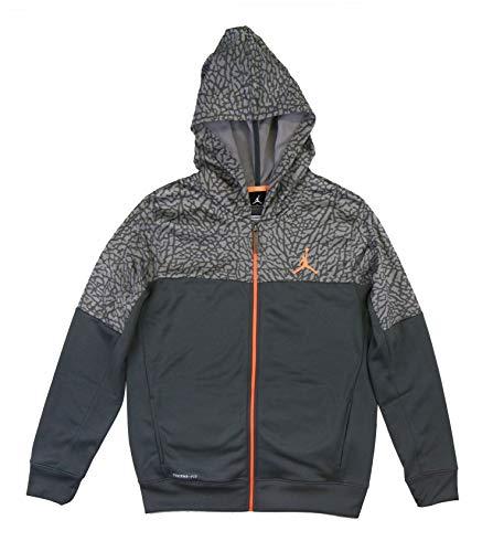 (Nike Jordan AJ Camo Full-Zip Hoodie - Dark Grey/Gold - XL)