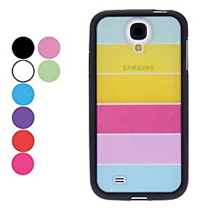 ZCL Transparent Colorful Pattern Hard Case,Screen Protector for Samsung Galaxy S4 I9500 (Assorted Colors) , Black