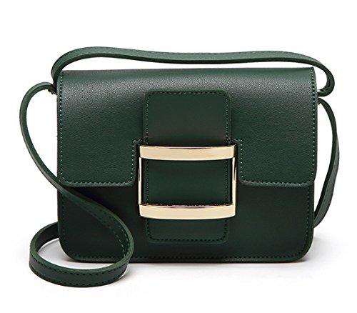 HopeEye mujer Tendencias de la moda Cuero De La Pu Mochila para mujer(gzaspunb08-5-Green) 5-verde