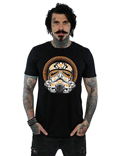 Star Wars Men's Stormtrooper Dia De Los Muertos T-Shirt Large (Dia De Los Muertos Men)