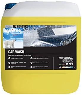 SANITEC Shampoo DETERGENTE Professionale CONCENTRATO per Lavaggio Auto/Moto/FURGONI/Camion - con LUCIDANTE - Art. 2213 - TANICA 16,5 kg